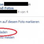 Facebook Fotos runterladen, speichern