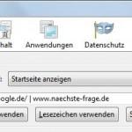 Mehrere Startseiten anzeigen, Firefox