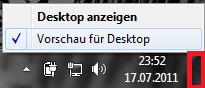 Automatische Desktop Vorschau deakivieren