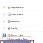 Facebook Liste immer verbergen