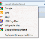 Integrierte Google-Suche in Firefox