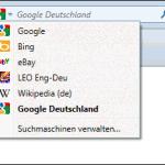 Integrierte Google-Suche in Firefox