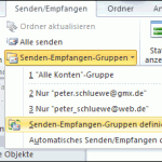 Outlook 2010 Senden-Empfangen-Gruppen definieren