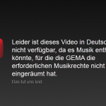 Youtube - Leider ist dieses Video in Deutschland nicht verfgbar